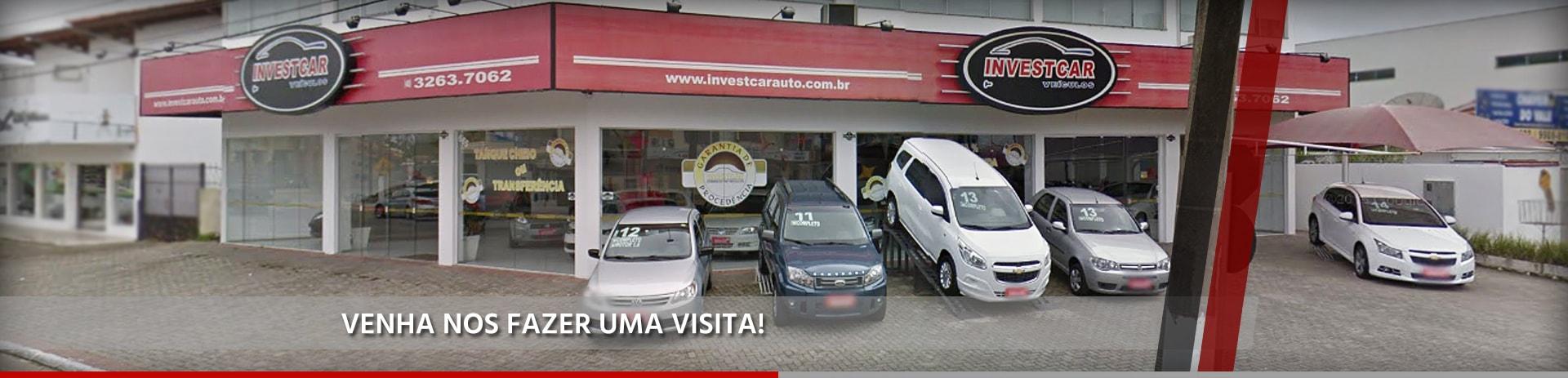 Foto de capa da INVESTCAR. Loja de carros em Tijucas/SC.